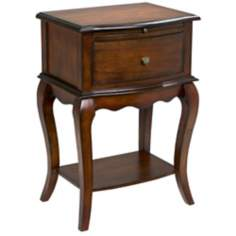 Cherry Finish Single Drawer Traditional End Table