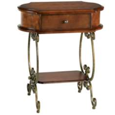 Virginia Scroll Leg Accent Table