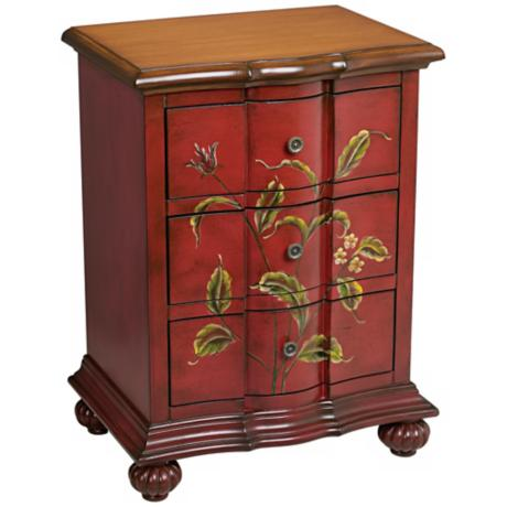 Lorraine Handpainted Wood 3-Drawer Table
