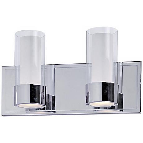 Maxim Silo Polished Chrome 2-Light Bathroom Light Fixture