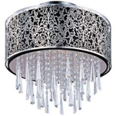 Maxim Rapture Black Satin Nickel Semi-Flush Ceiling Light