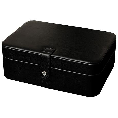 Mele & Co. Lila Black Faux Leather 48-Section Jewelry Box