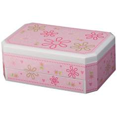 Mele & Co. Rose Girl's Glitter-DaisyJewelry Box