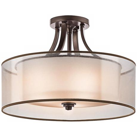 "Kichler Lacey 20"" Wide Bronze Ceiling Light Fixture"