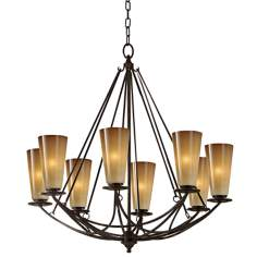 "El Nido Collection Mocha Bronze 29"" High 8-Light Chandelier"