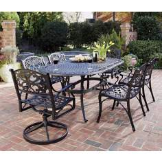 Biscayne Black 7-Piece Outdoor Dining Set