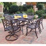 Biscayne Rust 7-Piece Outdoor Dining Set