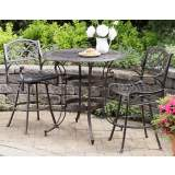 Biscayne 3-Piece Rust Brown Bistro Set