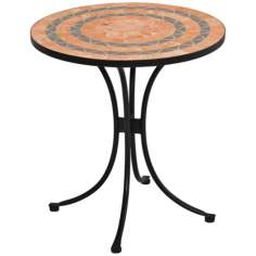 Sandstone Terra Cotta Tile Outdoor Bistro Table
