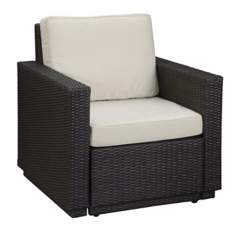 Riviera Brown Stone Cushion Outdoor Arm Chair
