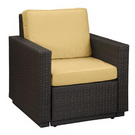 Riviera Brown Harvest Cushion Outdoor Arm Chair