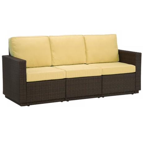 Riviera Brown Harvest Fabric 3 Cushion Outdoor Sofa
