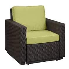 Riviera Brown Green Apple Cushion Outdoor Arm Chair