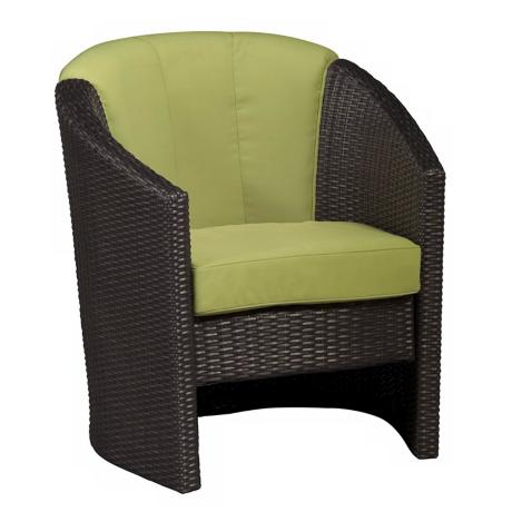 Riviera Collection Green Apple Outdoor Barrel Accent Chair