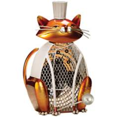 Cat Saute Figurine Decorative Desk Fan