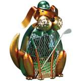 Dog Glofer Figurine Decorative Desk Fan