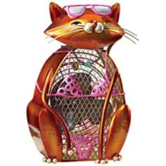 Cat Summer Figurine Decorative Desk Fan