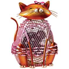 Cat Katerina Figurine Decorative Desk Fan