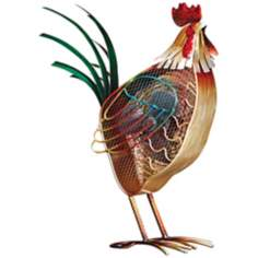 Country Rooster Figurine Decorative Desk Fan