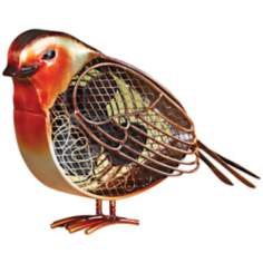 Small Robin Figurine Decorative Desk Fan