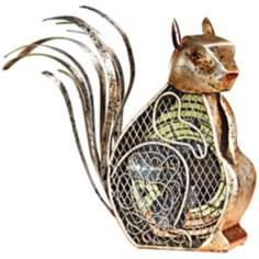 Squirrel Figurine Decorative Desk Fan