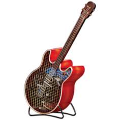 Guiter Figurine Decorative Desk Fan