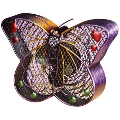 Butterfly Figurine Decorative Desk Fan