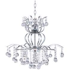 Possini Euro Crystal Crown 12-Light Contemporary Chandelier