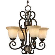 "Heartwood Burnt Sienna 17 3/4"" Wide 4-Light Chandelier"