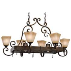 "Meridian Golden Bronze 39 1/2"" Wide Island Chandelier"