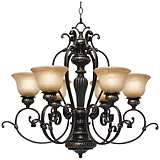 "Jefferson Etruscan Bronze 28 3/4"" Wide Chandelier"