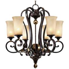 "Portland Fired Bronze 28"" Wide Chandelier"