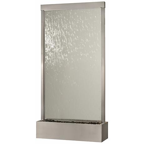 Grande Stainless Steel & Clear Glass Indoor/Outdoor Fountain