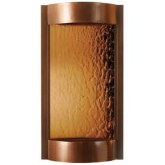Contempo Solare Bronze Mirror & Copper Indoor Wall Fountain