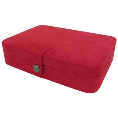 Mele & Co. Maria Plush Red Jewelry Box