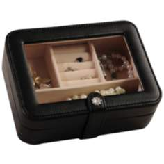 Mele & Co. Rio Black Faux Leather Jewelry Box