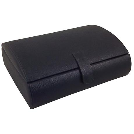 Mele & Co. Parker Black Faux Leather Watch Case