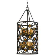 "Soleil Collection Sunrise Amber 18"" Wide Pendant Light"