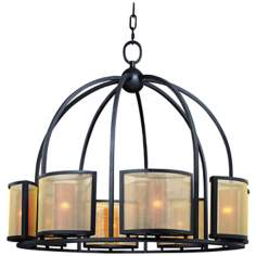 "Chinois Collection 32 1/2"" Wide 8-Light Chandelier"