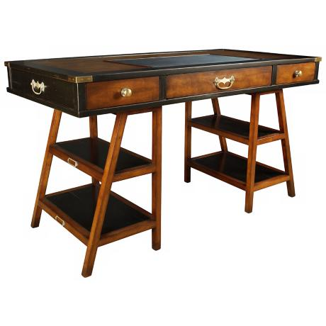 Navigator's Black and Woodgrain Desk