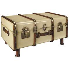 Ivory Stateroom Trunk Coffee Table