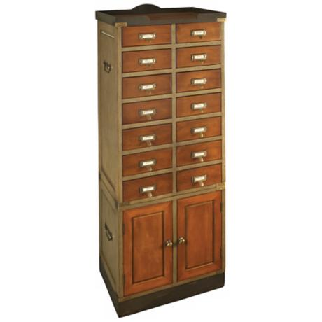 Collector's French Finish Cactus & Honey Cabinet With Doors