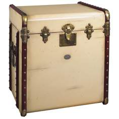 Ivory Stateroom Trunk End Table