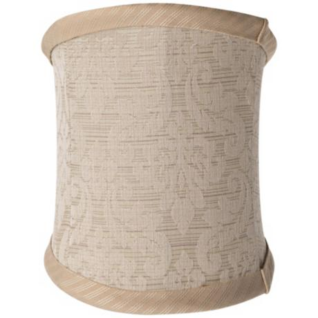 Tan Damask Slant Lamp Shade 4.5/5x4.5/5x6.5x3.5 (Clip-On)