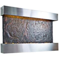 Horizon Falls Medium Stainless Indoor Wall Fountain