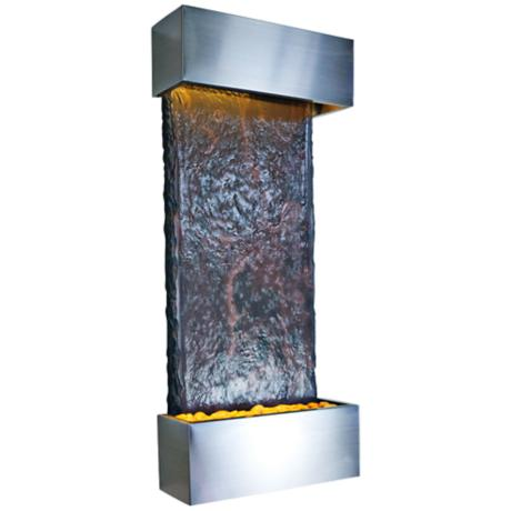 Nojoqui Falls Medium Stainless Indoor Wall Fountain