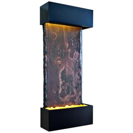 Nojoqui Falls Medium Black Indoor Wall Fountain