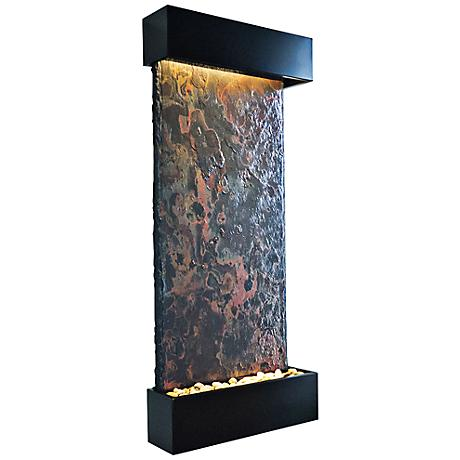 "Nojoqui Falls Large 58"" High Black Indoor Wall Fountain"