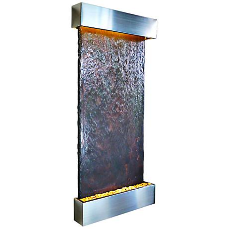"Nojoqui Falls 72"" High Grande Stainless Indoor Wall Fountain"