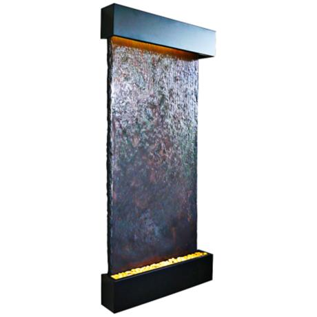 Nojoqui Falls Grande Black Indoor Wall Fountain